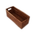 Rectangular open box with inlade handles S