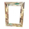 Recycled wood mirror mosaic style