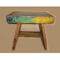 Rustic painted bench