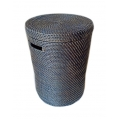 Tall cylindrical Lombok basket with lid