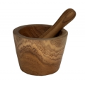 Wooden mortar