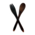 Sono wood fork and spoon