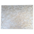Rectangular place mat white sea shell