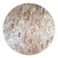 Round place mat cream sea shell