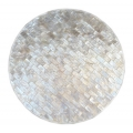 Round place mat white sea shell