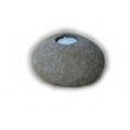 Candle holder natural stone